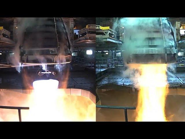 SLS RS-25 Engine Test, 16 January 2018