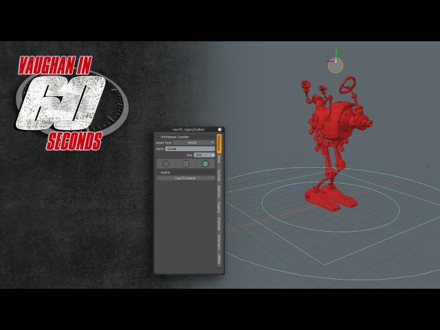 MODO maxTD Rigging Toolbox Workspace Assembly