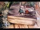 Decoupage Tutorial - Vintage Wooden Box with Children - DIY