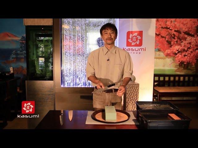 Мастер-класс по заточке ножей с Кодзи Хаттори (Koji Hattori) часть 1: заточка европейск ...