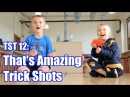 Trick Shot Titus 12 | 'That's Amazing' Trick Shots (Bottle Flips, Dice Stacking, Basketball, Soccer)