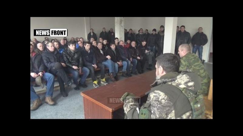 ДНР. Макеевка. Добровольцы вступают в ряды армии Новороссии