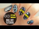 EXO x Star Wars Lightsaber Nail Art Tutorial