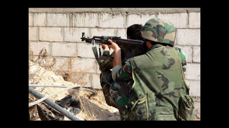 Hezbollah And Syrian Army Fighting Al-Nusra In The Battle For Yabroud   Syria War 2014
