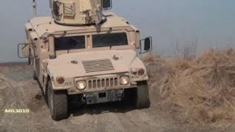 Армейский бронированный вездеход Хамви / Тренировочная полоса препятствий
