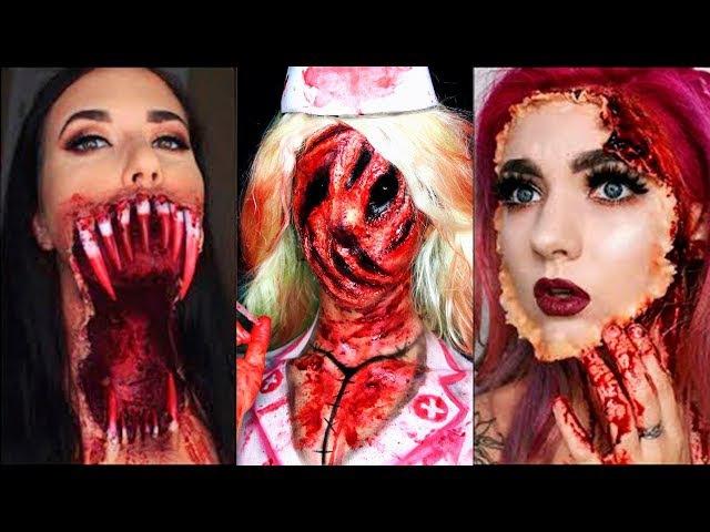 INCREÍBLES MAQUILLAJES PARA HALLOWEEN - Heridas Falsas / Blood Halloween Make Up Tutorial 2017