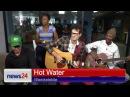 Hot Water plays their new single Wamkelekile in our studio