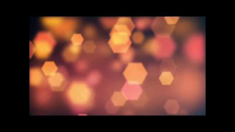 Orange Hexagons Bokeh Effect | 4K Relaxing Screensaver