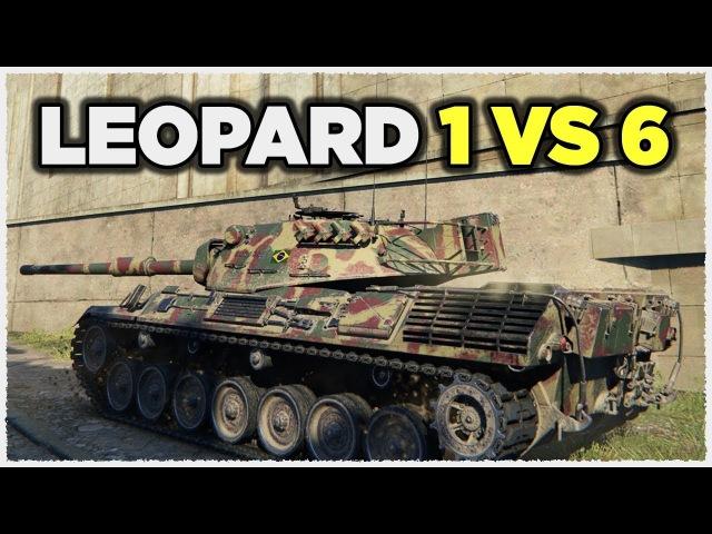 Leopard 1 • 1 vs 6 • 11K Damage • ДИНАМИКА и МАНЁВРЕННОСТЬ vs БРОНИ