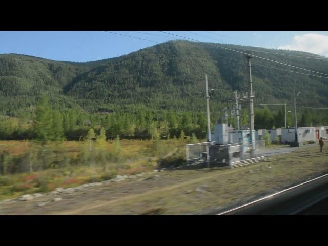 БАМ из окна поезда 2017. Олёкма - Хани.