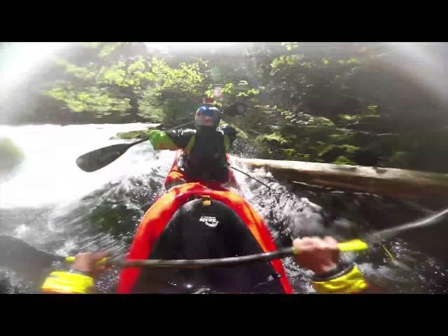 GoPro Two man kayak down Class 5 whitewater