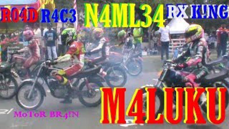 DAHSYAT Raungan RX KING Bikin MERINDING - Balap Motor ROAD RACE Namlea MALUKU