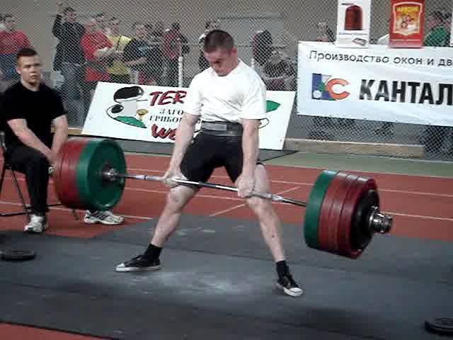 Александр Гринкевич Судник Становая тяга Попытка на 302 5 кг в в к до 75 кг на ЧРБ 2007