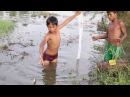 Fishing Technique Awesome Boys Trap Fish With RonongSar Line Multiple Knots Cambo Trap Fishing