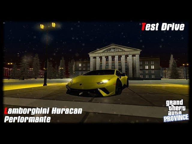 Lamborghini Huracan Performante Test Drive. Тест Драйв MTA Province