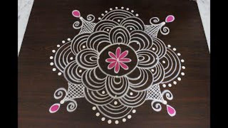 Margazhi kolam designs for pongal || Sankranti dhanurmasam muggulu designs || easy rangoli