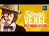 [ Photoshop tutorial ] Vector Vexel Potrait - Part 1 LINE ART