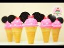 CAKE POPS EN FORMA DE HELADO MINNIE MOUSE MIS PASTELITOS KIDS