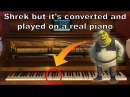 Shrek but I built a MIDI player piano and you can hear the words (Converted to MIDI)