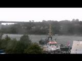 НАТО ВМС Фрегат УРО Королевских ВМС Нидерландов HNLMS Evertsen F805 - сквозь шлюзы Кильского канала Full video 28.09.2017.