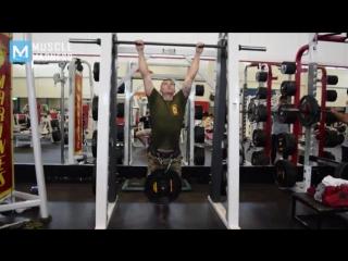 Big army guy extreme training