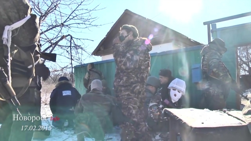 Чернухино 17 февраля 2015 Бой под Чернухино Вывоз пленных
