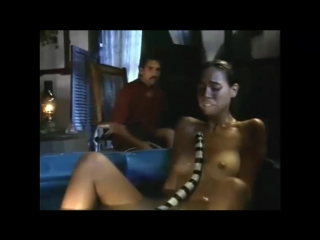 naked Brigitte Bako with snake (Dark Tide)