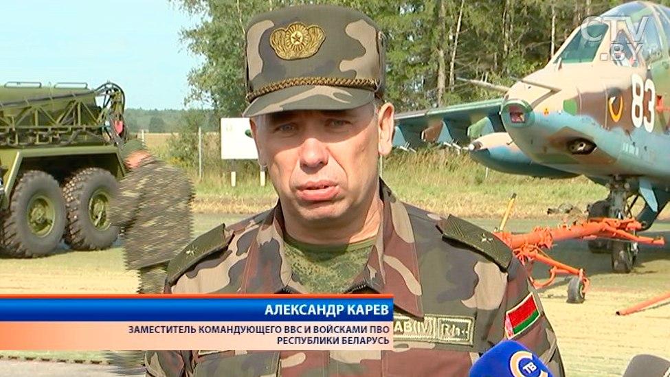 На дорогу Минск-Могилев садятся военные самолеты