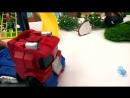 ТРАНСФОРМЕРЫ БамблБи и Оптимус Прайм спасают город ПРИШЕЛЬЦЫ АТАКУЮТ Видео игрушки для детей