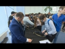 Новобранцев Москвы провожают в армию летчицы, радистки, военные врачи и переводчицы