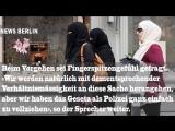 Polizeiaufgebot am Flughafen - Ab heute gilt in sterreich Burka-Verbot