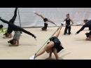 Интересные упражнения с резиной Художественная гимнастика УТС в Израиле с Екатериной Пирожковой 2