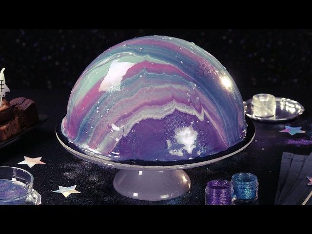 Космический Торт С Зеркальной Глазурью: Потрясающе Красивый Десерт