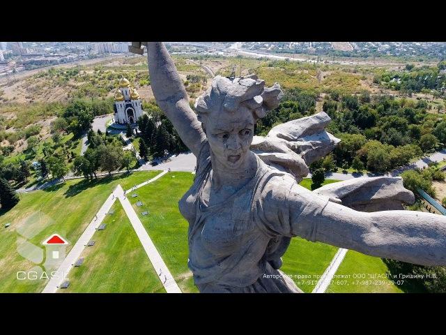 Аэросъемка монумента Родина-мать (Мамаев курган, г.Волгоград, 2017)