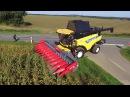 Moisson maïs grain 2017 - New Holland CR 8.90 - Cueilleur Maya Yunkax 12 rangs