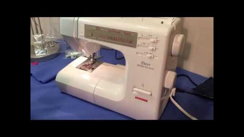 Швейная машина Janome Decor Excel Pro 5124 видео обзор Краш тест