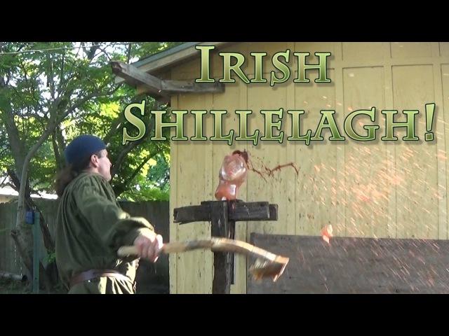 Irish Shillelagh tested on Analog Ballistic Gel Head ( St. Paddys Special )