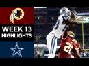 Redskins vs. Cowboys | NFL Week 13 Game Highlights