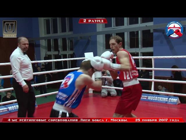 4-е рейтинговые бои Лига бокса г. Москвы – 25.11.17 г. до 69 кг.