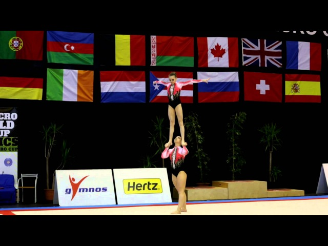 FIG Acro World Cup 2013 Maia - RUS W2 Sen Dynamic - Kim and Dubrovina