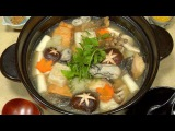 Mizore Nabe Recipe (Winter Hot Pot with Grated Daikon Radish) Cooking with Dog