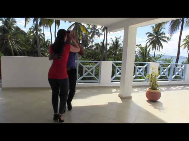 Rodolfo Montaño Castro and Dasha La Guajira Elizarova dancing dominican bachata at DR7