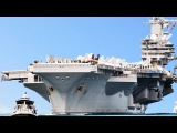 A Day on The Brand New Gigantic US Aircraft Carrier USS Gerald Ford in Action