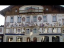 Обераммергау - деревня-музей, Бавария, Германия. Oberammergau - village-museum, Bavaria, Germany