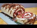 Бисквитный Рулет ЧЁРНЫЙ ЛЕС | Новый Рецепт Бисквита для Рулета | Biscuit roll Black Forest