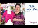 Blusa mariposa tejida a dos agujas para niñas Tejiendo Perú