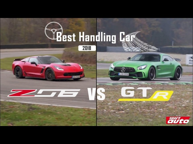 Corvette Z06 vs. Mercedes-AMG GT R | BEST HANDLING CAR 2018 | sport auto