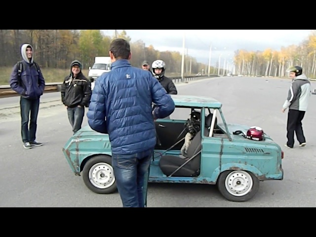 инвалидка с двигателем от спорт байка ч 2 полная версия