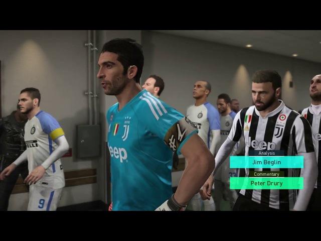 Juventus vs Inter Milan / Full Match Goals 2017 / PES 2018 Gameplay