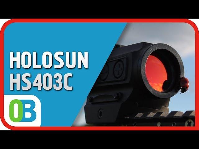 Коллиматорный прицел HOLOSUN Paralow HS403C - распаковка, обзор, испытания